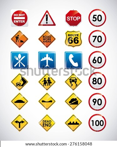 road infographics design, vector illustration eps10 graphic  - stock vector