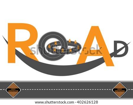 road logo design  - stock vector