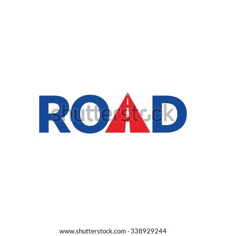road logotype vector. - stock vector