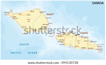 American Samoa Map Flag Stock Vector Shutterstock - Map samoa