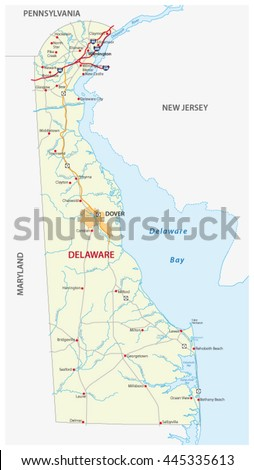 Delaware Map Stock Images RoyaltyFree Images Vectors - Delaware on us map