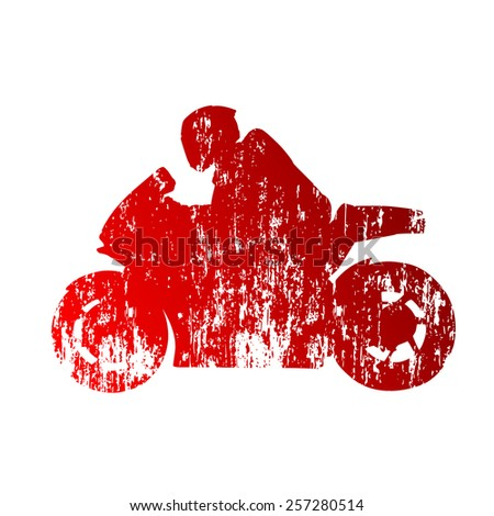 Road motorcycle racing - stock vector