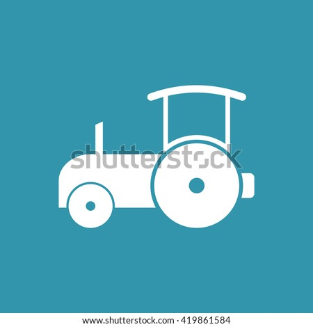 Road Roller Icon. Eps-10. - stock vector