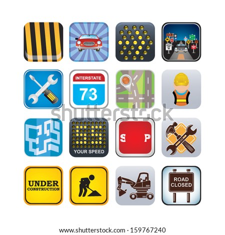 road set - stock vector