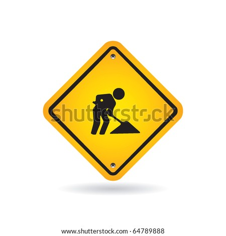 Road sign - stock vector