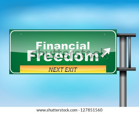 Road sign concept with the text Financial - stock vector