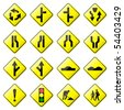 Road Sign Glossy Vector (Set 2 of 8) - stock photo