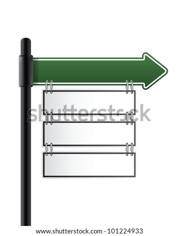 road sign.green color. vector