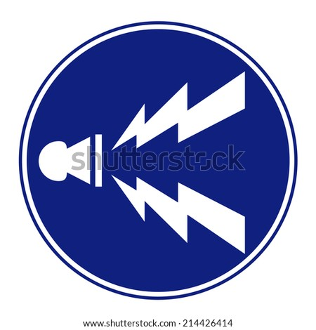 road sign icon on isolated background - stock vector