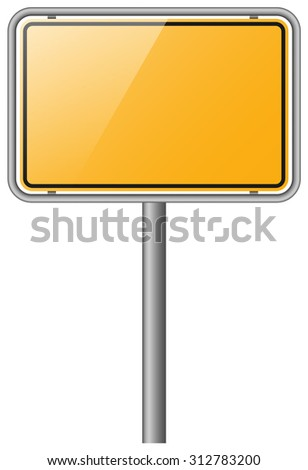 road sign on white background vector