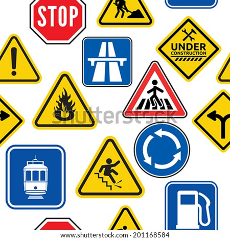 Road sign pattern