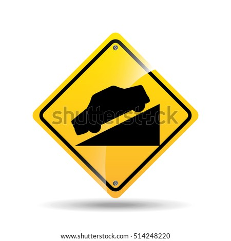 steep hill sign stock images, royalty-free images & vectors