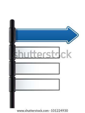 road sign. vector - stock vector