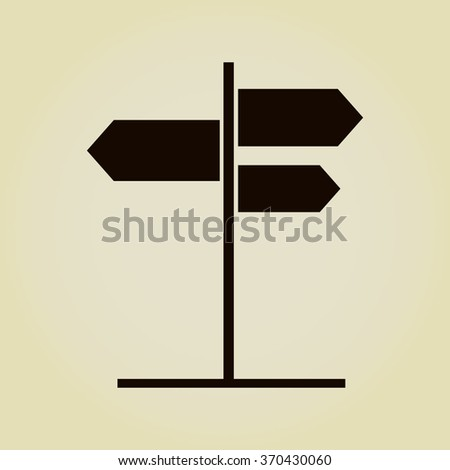 road sign with different directions icon