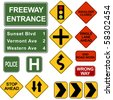 Road Signposts - stock photo