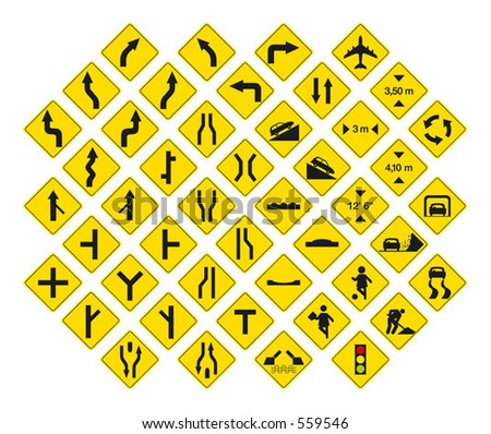 road signs in vector format pack 3
