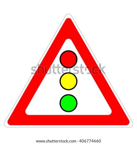Road signs, traffic lights - stock vector