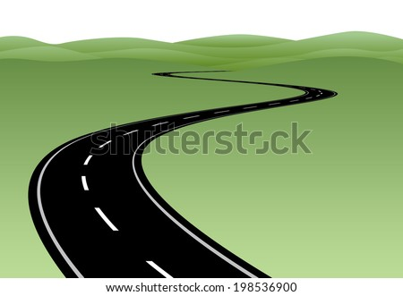 Road to future - stock vector
