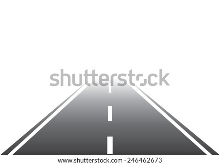 Road to Nowhere. Vector