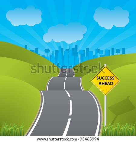 Road to success - stock vector