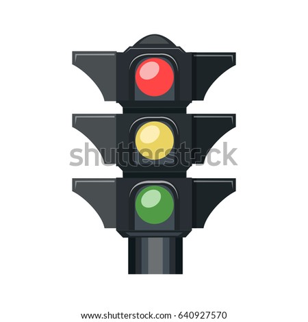road, traffic lights icon