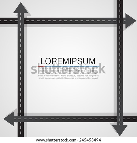Road traffic on white background.Vector illustration - stock vector