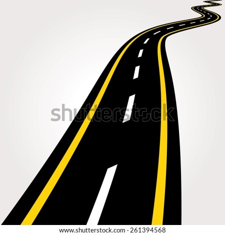 Road vector illustration. - stock vector