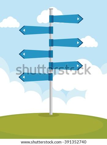 roads and ways design  - stock vector