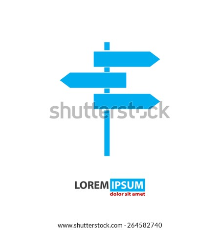 roadsign vector icon - stock vector
