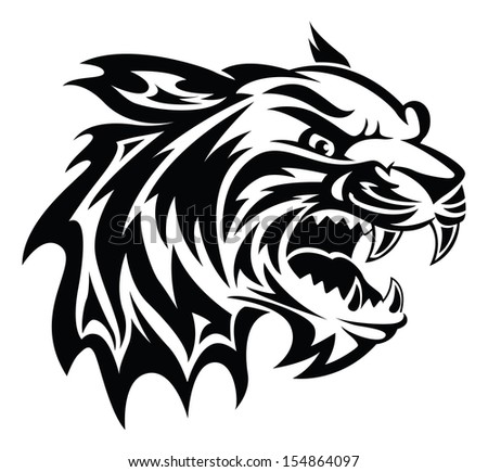 Tiger head logo design - photo#28