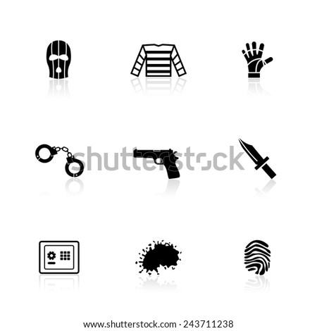 Robber icons - stock vector