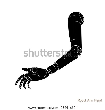 Robot Arm Hand - stock vector