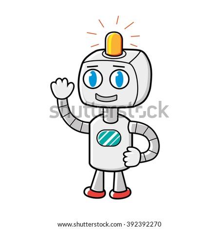Robot character. - stock vector