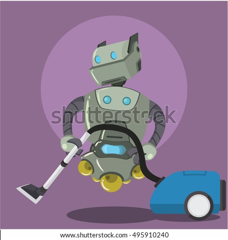 robot cleaning with vacum cleaner