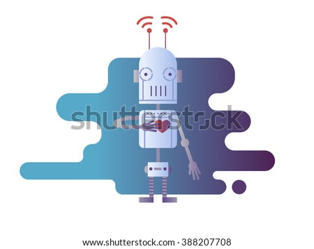 Robot design flat - stock vector