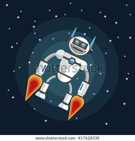 Robot design. Technology concept. Colorful illustration - stock vector
