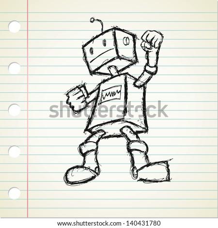 Cute Robot Doodles Robot Doodle