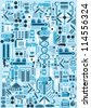 Robot Parts Pattern - stock vector