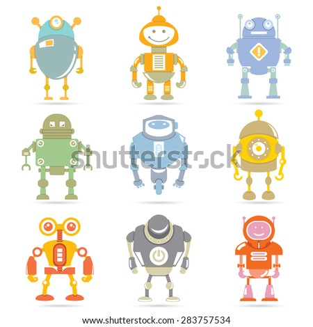 robot set, vector