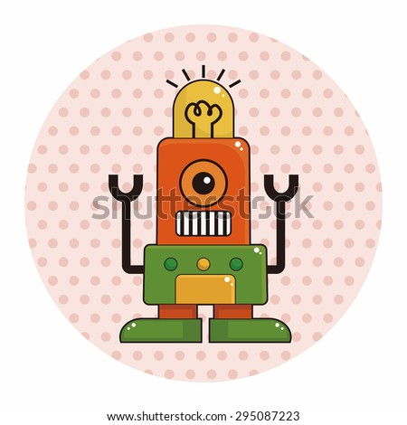 robot theme elements vector,eps