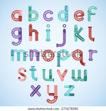 Robot Typeface Set : Vector Illustration - stock vector