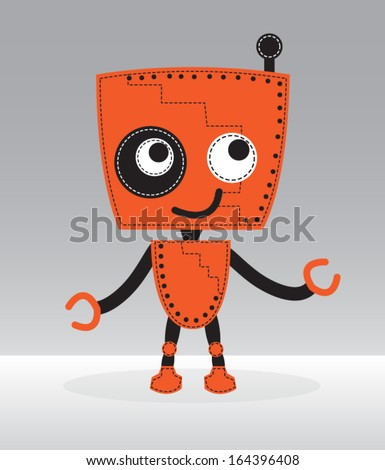 Robot vector  - stock vector