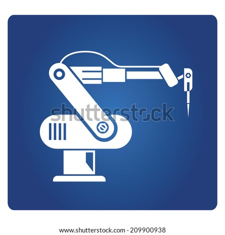 robotic arm, robot in manufacturing process - stock vector