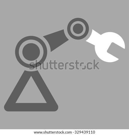 Robotics Vector Icon Style Bicolor Flat Stock Vector 329439110