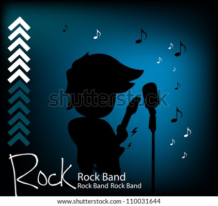 Rock and Roll background - stock vector