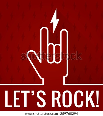 Rock and roll sign - stock vector