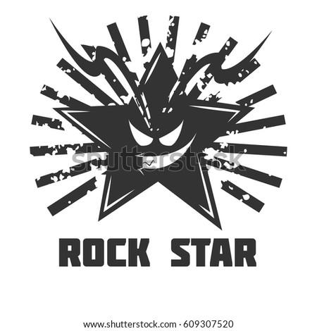 Rock Band Vector Logo Template Symbol Stock Vector 2018 609307520