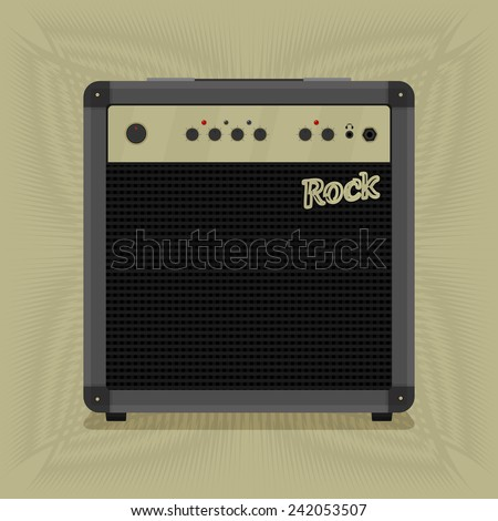 rock combo for music. vector format;
