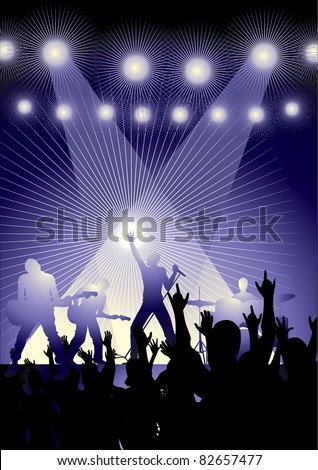 rock concert - stock vector