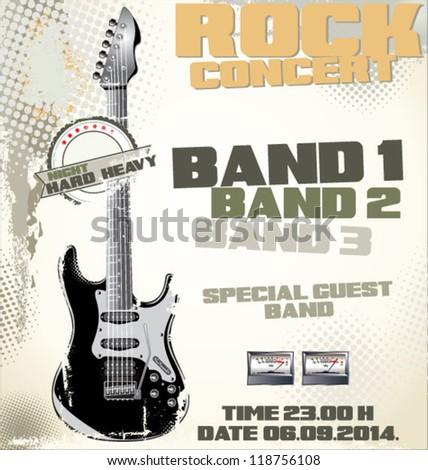 Rock concert background - stock vector